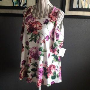 ee:some Tops - ee:some Floral Cold Shoulder top